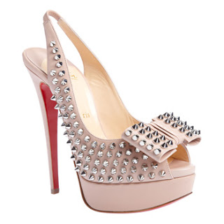 Heels of the Day : Christian Louboutin Clou Noeud Spiked Slingback Pumps
