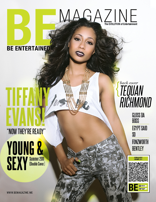 Tiffany Evans covers BE Magazine !