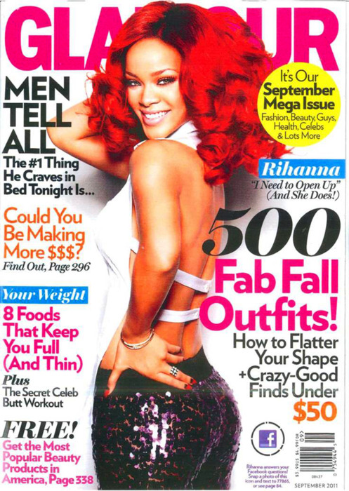 Rihanna covers Glamour Magazine