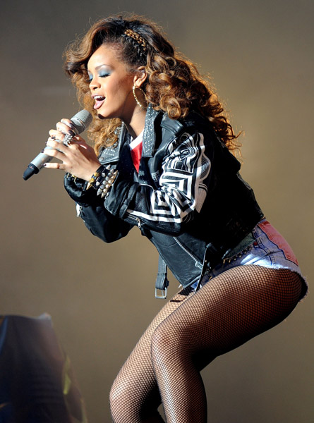Rihanna performs on day one of V Festival10