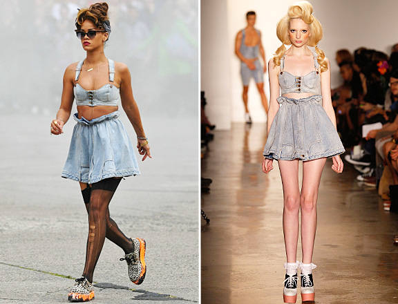 Rihanna wears Jeremy Scott in 'We Found Love' video