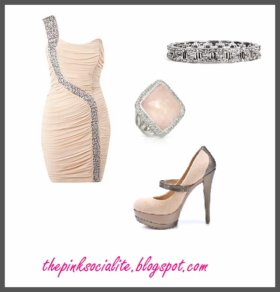 New Year's Eve Style : Lipsy One Shoulder Sequin Dress