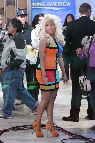 Forever 21 Colorblock Dress worn by Nicki Minaj
