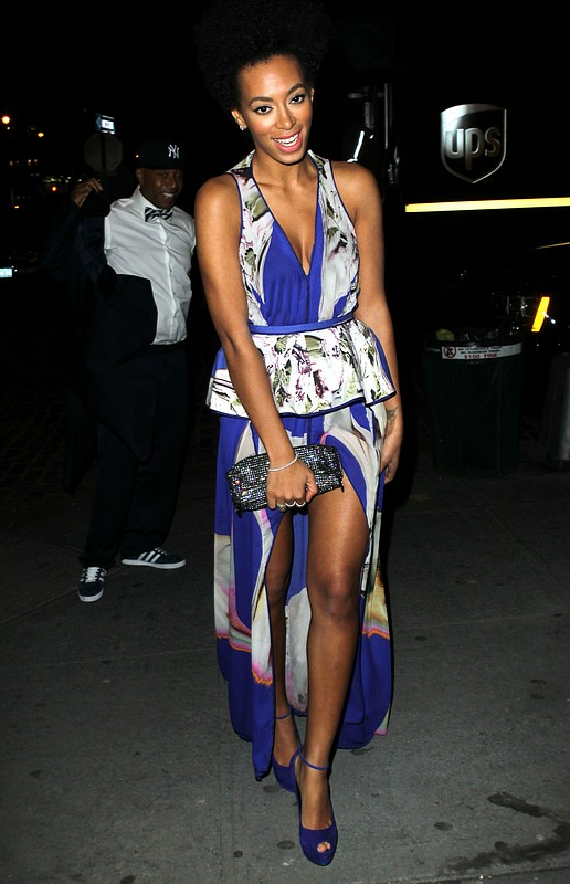 Solange Knowles in Vera Wang & Giuseppe Zanotti at Runway to Win Launch