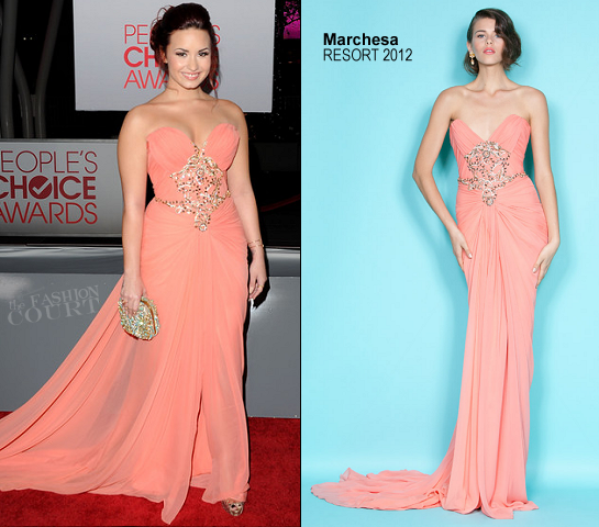 Demi Lovato in Marchesa | 2012 People's Choice Awards