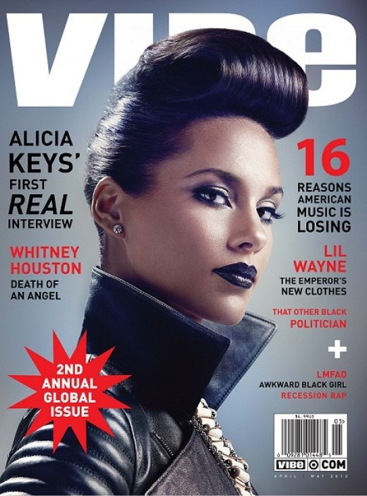 Alicia Keys covers VIBE Magazine