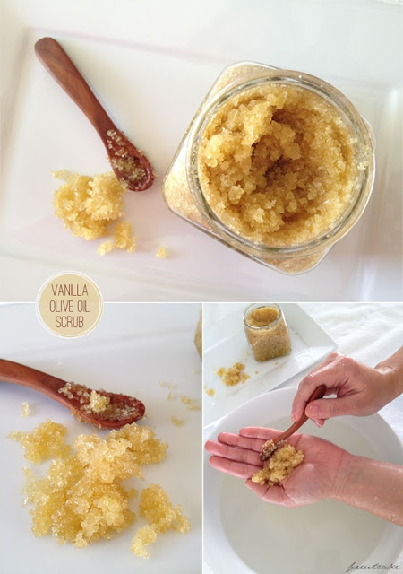 DIY : Vanilla Olive Oil Sugar Scrub