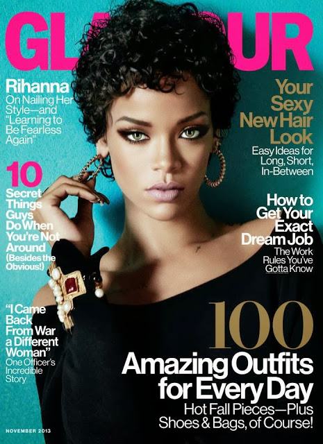 Rihanna covers Glamour Magazine (November)