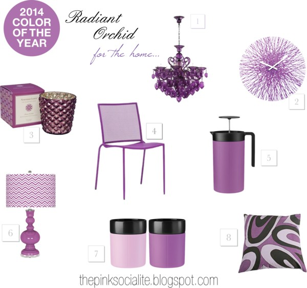 2014 Colour of the Year : Radiant Orchid (For The Home)