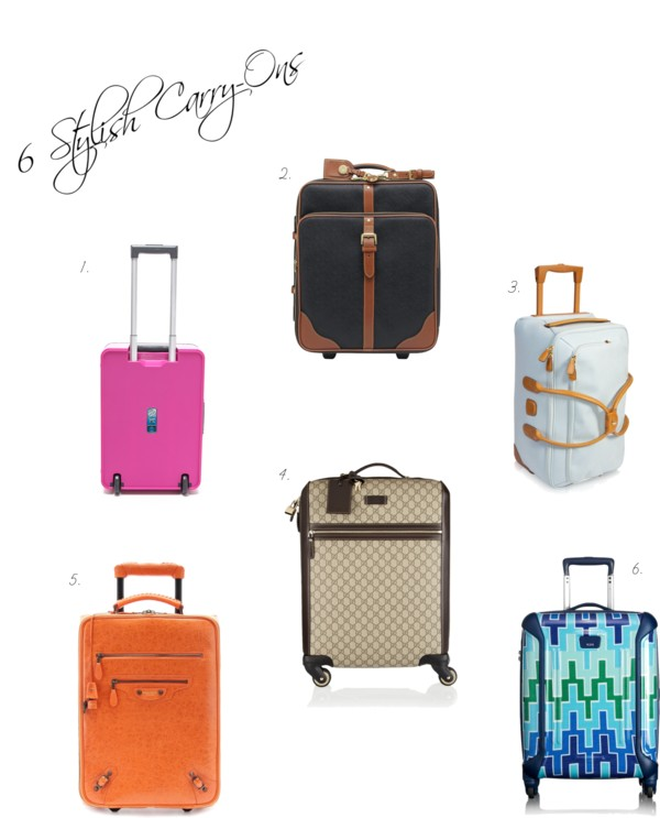 6 Stylish Carry-Ons