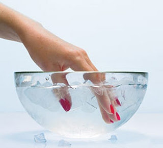 Beauty Tip: Dry Nails Faster with Cold Water