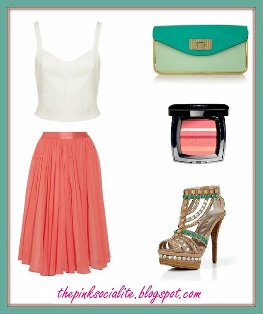 How To: Wear A 'Chloe' Coral Skirt