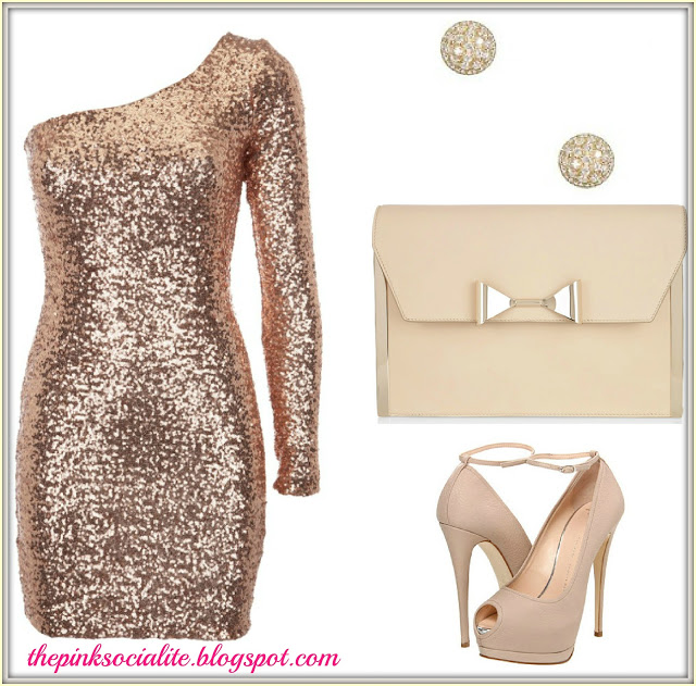 New Year's Eve Style : Sequins & Nude !